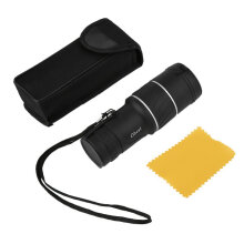 [COZIME] 30 X 52 Dual Focus Dual Green Film Powered Big Eyepiece Monocular Telescope black