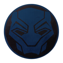 MARVEL Avengers Black Panther Round Cushion 37cm - Blue