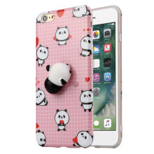 BESSKY Squishy 3D Cute Animal Soft Silicone Back Case Cover For IPhone 6/6s Plus 5.5Inch_ Multicolor