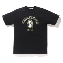 Bape X Undefeated Black College Tee Black SIZE L