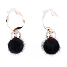 VOITTO Fashion Jewelry Round Pompom B2 Earrings