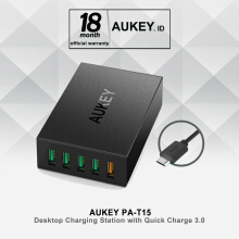 AUKEY Desktop Charging Station with Quick Charge 3.0 - Black (PA-T15 )