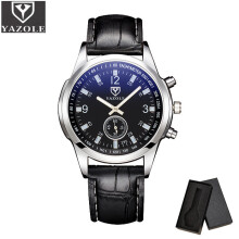 YAZOLE Original brand Luxury Men Watch Waterproof Quartz Watch Leather Sports Clock watch
