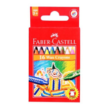 FABER-CASTELL Wax Crayon Regular 16 pcs 120050