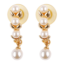 1901 JEWELRY Gold Pearl Step Earring