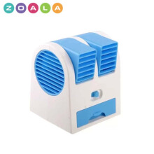 ZOALA AC Duduk Mini Portable - Double Blower Mini AC - Kipas Angin Travel - Biru-MF-BP-BL