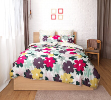 ESPRIT Sprei Set King - Wild Flower / 180x200x36cm
