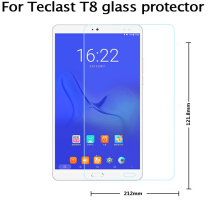 teclast T8 Tempered Glass Films  8inch  Transparent
