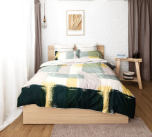 ESPRIT Sprei Set King - Brush Stroke  / 180x200x36cm