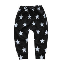 Farfi Fashion Stars Drawstring Baby Girls Boys Long Harem Pants Soft Cotton Trousers