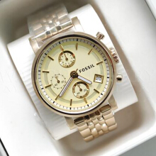 FOSSIL ES2197 D40H1620GOLD CHRONOGRAPH STAINLESS STEEL CHAIN LADIES GOLD1.jpg Gold