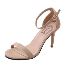 BESSKY Fashion Women Ladies Sandals Ankle High Heels Block Party Open Toe Shoes_