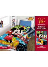 Selimut Vito Sutra Panel 150x200 Mickey Single - Multicolor