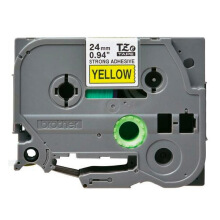 BROTHER Label Tape TZE-S651 24MM Strong Adhessive Black on Yellow