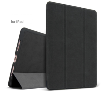 Ins AP-113 Super Thin PU Artificial deer skin pattern Surface scrub treatment Apple Ipad Pro10.5 protective cover-Black