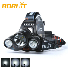 BORUIT 6000LM 3x XML T6 LED Headlight Headlamp 18650 Head Flashlight Torch Light
