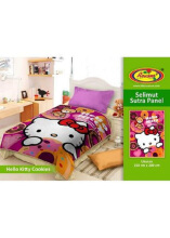 Selimut Rosanna Sutra Panel 150x200 Hello Kitty Cookies - Pink