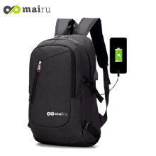 Mairu BP-USB Tas Ransel Laptop Backpack Support USB Port Charger Anti Air