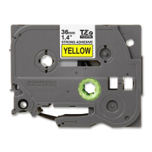 BROTHER Label Tape TZE-S661 36MM Strong Adhessive Black on Yellow