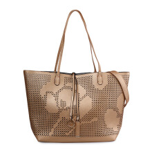 VOITTO Lasercut Tote 9880-2 - Gold / Light Grey