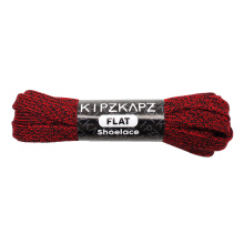 KIPZKAPZ F15A Flat Shoelace - Black Red [8mm]