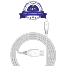 Tronsmart 19AWG Double Braided Lightning Cable 3M - White/Putih