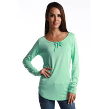 Fredperry Women -Mint Green Round Neck Sweatshirt wt Ribbon