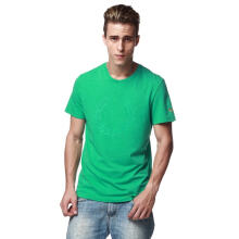Fredperry Men- Green T Shirt wt Big Laurel Print L