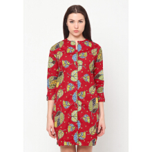 FBW Aisha Batik Daon Tunik Dress - Merah