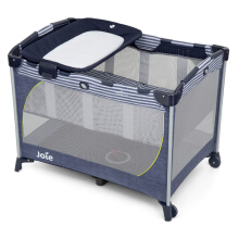 JOIE Commuter Change Travel Cot - Denim Zest