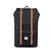 HERSCHEL Little America 10014-00001-OS - Black/Tan Synthetic Leather