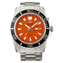 Orient Mako XL Orange Dial Stainless Steel [FEM75001M]