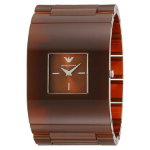 Emporio Armani Fashion Brown Sunray Dial Brown Stainless Steel [AR7397]
