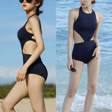 Farfi Sexy Solid Color One-piece Monokini Women Summer Beach Swimwear Bathing Suit