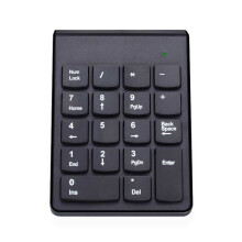 BESSKY Wireless 2.4G Mini USB 18 Keys Number Pad Numeric Keypad Keyboard For PC Laptop_ Black