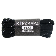 KIPZKAPZ FS54 Flat Shoelace - Black White [7mm]
