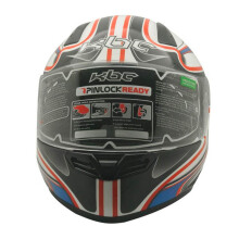 CARGLOSS KBC VK Euro Helm Full Face - Blue Red White