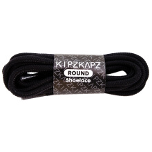 KIPZKAPZ RS41 Round Shoelace - Black Rogue [5mm] Black 140 cm