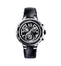 Moment Watch Guy Laroche GL6244LD-01 Jam Tangan Pria - Leather Strap - Black Black