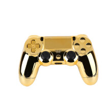 Full Housing Shell Case Skin Button Set For Playstation 4 PS4 Controller Multicolor Golden case Black band Black Dial