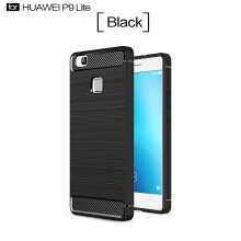 Smatton Case hp HUAWEI P9 Lite Luxury Shockproof Case Carbon Fiber For Soft TPU Full Protect Ultra Thin Case shell
