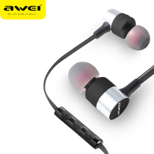 OAC-AWEI ES-20TY In-Ear Earphone 3.5mm Jack Headphones Super Bass Headset With Microphone Metal fone de ouvido