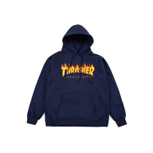 Thrasher Flame Pullover Navy - Navy - Size M
