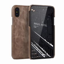 VOUNI iPhone X Retro matte leather back shell