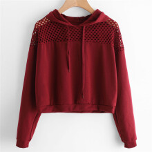 BESSKY Women Hoodie Sweatshirt Jumper Sweater Crop Top Pullover Tops _
