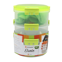 TECHNOPLAST Genio Round Sealware Stackable M3 Hijau