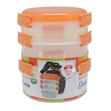 TECHNOPLAST Genio Round Sealware Stackable S1M2 Orange