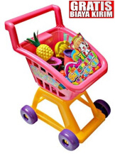 Kaptenstore My Food Shopping Trolley Kereta Dorong Belanja Pink