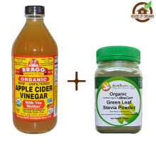 Bragg Apple Cider Vinegar 473 ML + Organic Green Stevia Powder