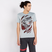 CoreNation Active Ultra Dry Skull ll Short Sleeve - Abu abu Grey L
